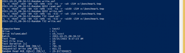 DiskSpdAuto: Automating IO performance tests and result collection using DiskSpd and PowerShell