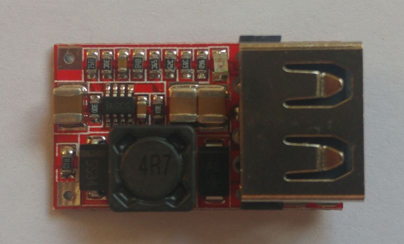 Efficient DC 12V to 5V conversion for low-power electronics